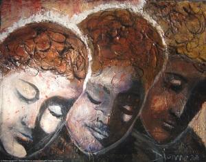 40 x 46 cm toile galerie prix 300