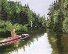 lac provost avec Majo Huile sur toile 16 x20 Dionne © 2014