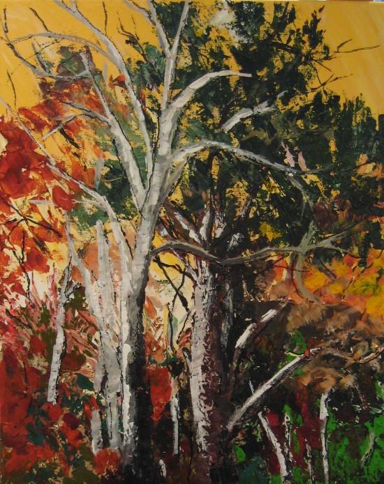 Acrylique sur toile 20x 16 / 61 x 41 $300