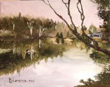 Lac Mandeville 8x10 huile Dionne © 2014