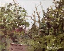 Les cimes de Mégantic Oil on canvas 8 x 10 Dionne © 2104