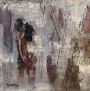 FAROUCHE toile galerie 10x10 technique mixte, Dionne